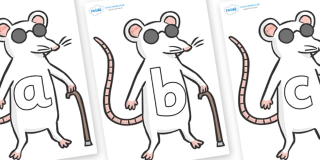 Phoneme Set on Blind Mice - Phoneme set, phonemes, phoneme, Letters and Sounds, DfES, display, Phase 1, Phase 2, Phase 3, Phase 5, Foundation, Literacy
