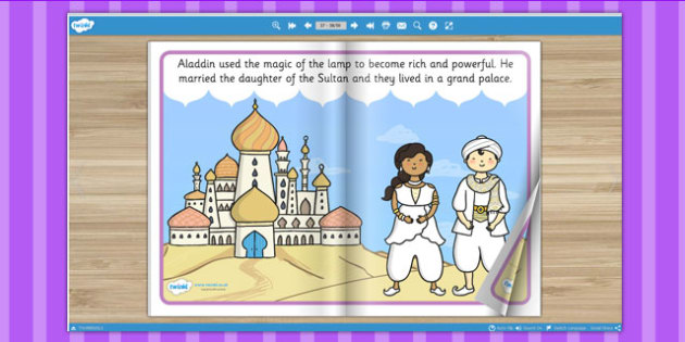 Aladdin eBook - books, interactive books, read, traditional tales