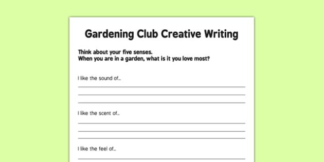 Elderly Care Gardening Club Creative Writing Activity - Elderly, Reminiscence, Care Homes, Gardening Club