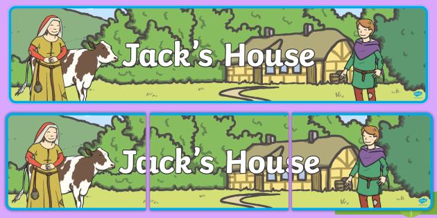 Jacks House Display Banner - jacks house, jack and the beanstalk, display banner, banner, banner for display, display header, header, header for display