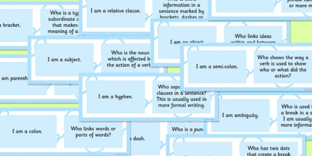 Vocabulary, Grammar and Punctuation Group Loop Game Higher KS2