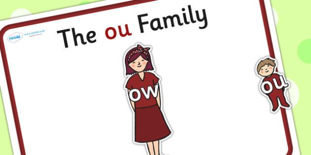 Ou Sound Family Cut Outs - sound families, sounds, cutouts, cut