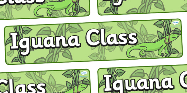 Iguana Themed Classroom Display Banner - Themed banner, banner, display banner, Classroom labels, Area labels, Poster, Display, Areas