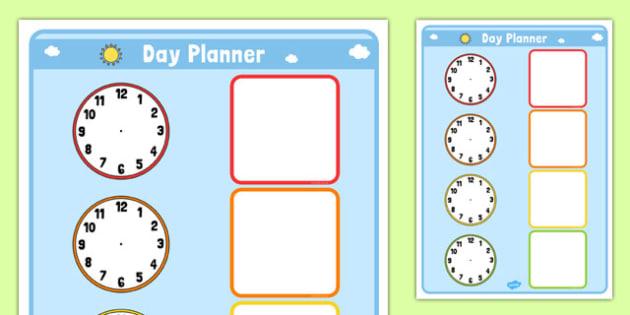 Clock Day Planner - clock, day, planner, planning, time, day planner