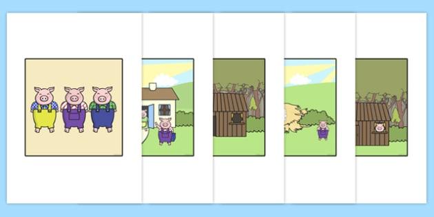 Bee Bot Three Little Pigs Story Mat - stories, storybook, mats