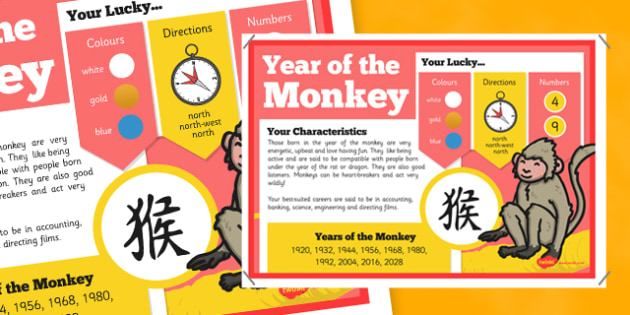 Chinese New Year of the Monkey Display Poster - chinese new year, monkey, display, poster