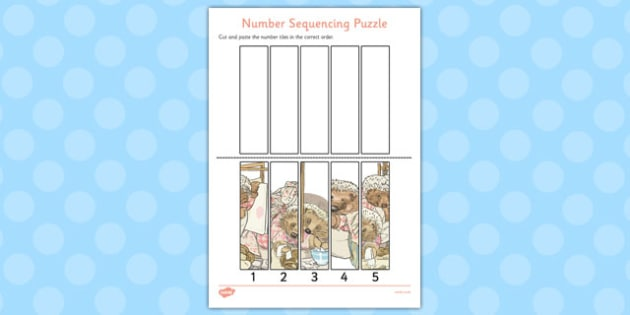 The Tale of Mrs Tiggy Winkle Number Sequencing Puzzle - mrs tiggy winkle