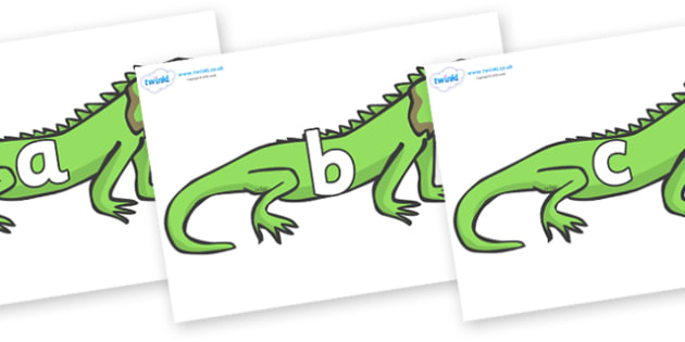Phase 2 Phonemes on Iguanas - Phonemes, phoneme, Phase 2, Phase two, Foundation, Literacy, Letters and Sounds, DfES, display