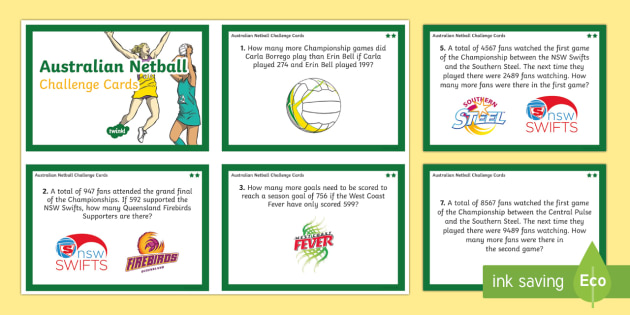 Australian Year 3-4 Subtraction Word Problems Maths Challenge Cards-Australia