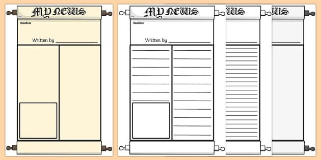 Roman Newspaper Writing Template - Rome, Ancient Rome, Roman