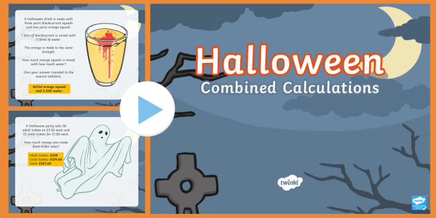 UKS2 Combined Calculations Halloween PowerPoint