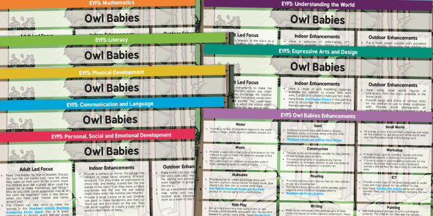 EYFS Lesson Plan and Enhancement Ideas to Support Teaching on Owl Babies - owl, eyfs, lesson plan, ideas, story