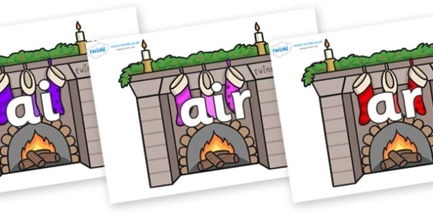 Phase 3 Phonemes on Fireplaces - Phonemes, phoneme, Phase 3, Phase three, Foundation, Literacy, Letters and Sounds, DfES, display