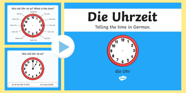 Telling the Time in German PowerPoint