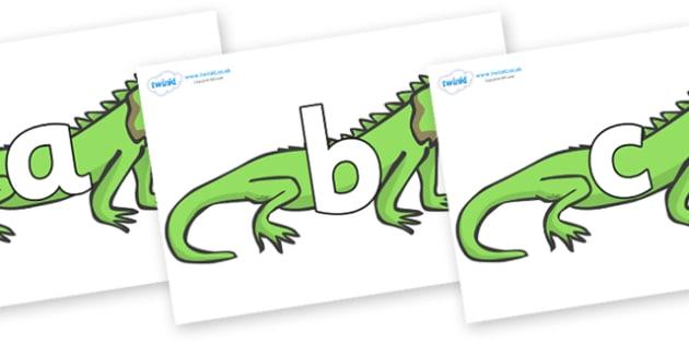 Phoneme Set on Iguanas - Phoneme set, phonemes, phoneme, Letters and Sounds, DfES, display, Phase 1, Phase 2, Phase 3, Phase 5, Foundation, Literacy