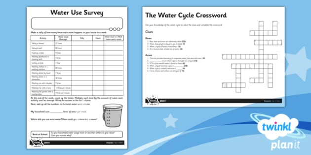 Geography: Water Year 4 Home Learning Tasks