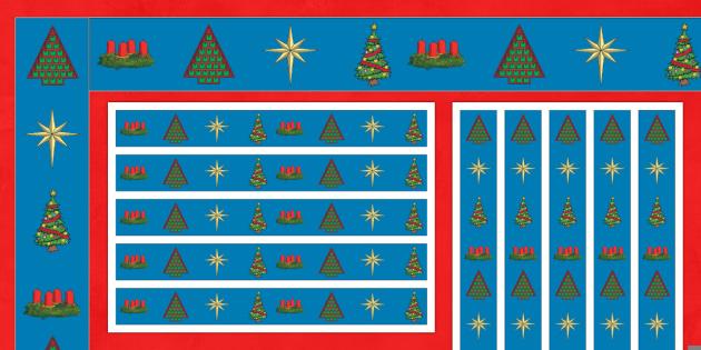 Advent Display Borders - Christmas, Nativity, Jesus, xmas, Xmas, Father Christmas, Santa, St Nic, Saint Nicholas, traditions