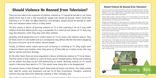 should television be banned from children If you're wondering why your kids are always drawn to the least healthy foods imaginable, just look at the packaging and advertising that's associated with them according to the new england journal of medicine, food marketing intentionally targets children who are too young to distinguish advertising from truth and.