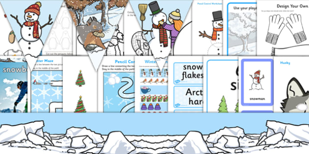 Winter Resource Pack for Childminders - winter, resource pack, childminders, resource, pack