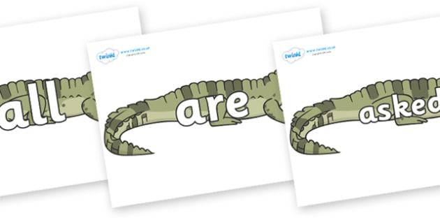 Tricky Words on Crocodiles - Tricky words, DfES Letters and Sounds, Letters and sounds, display, words