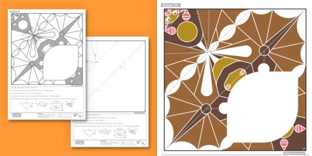 Enkl Simple Origami Halloween Bat - enkl, paper craft, paper model, paper, model, craft, printables, simple, origami, halloween, bat