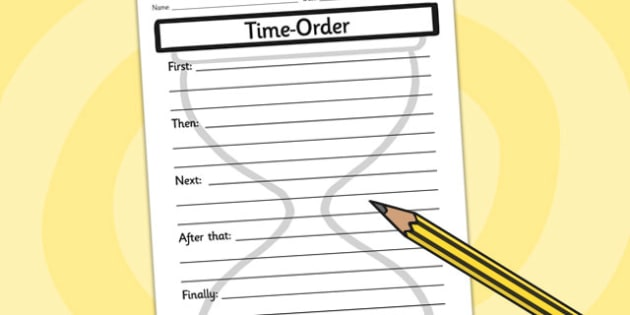 Time Order Writing Frames - time, order, writing, writing frame