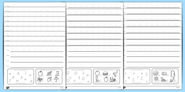 Australia - Alphabet Practice Activity Sheets - australia, alphabet, alphabet practise, alphabet worksheet, worksheets, alphabet sheets, letters, a-z, letters practise, word practise