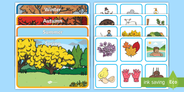 Seasons Sorting Activity - seasons, sorting, activity, game