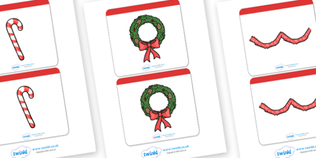 Matching Christmas Cards Activity - christmas, matching, games