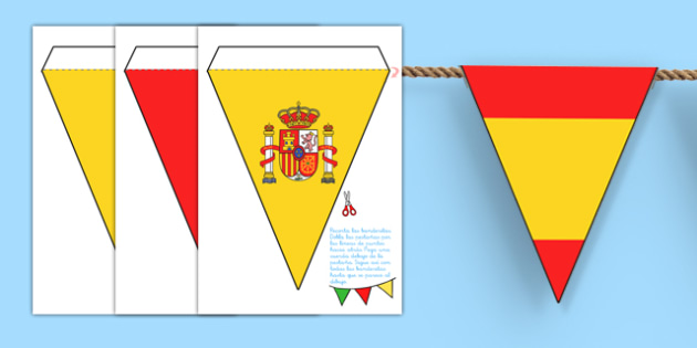 Spanish Flag Bunting - spanish, flag, bunting, flag bunting, spanish bunting, spanish flag, spain themed bunting, spanish decoration, spain, decoration