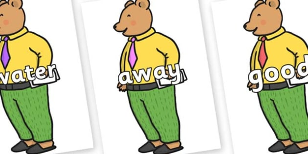 Next 200 Common Words on Mr Bear to Support Teaching on The Jolly Christmas Postman - Next 200 Common Words on  - DfES Letters and Sounds, Letters and Sounds, Letters and sounds words, Common words, 200 common words