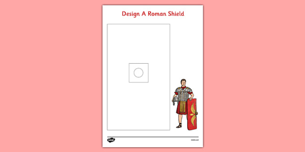 Design a Roman Shield Activity Sheet - design, roman shield, activity sheet, activity, roman, shield, worksheet