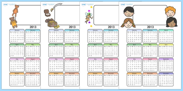Editable Calendar Pack - calendar 2013, 2013, editable, calendars, calendar pack, editable calendars, calendar, date, dates, months of the year, my calendar, yearly calendar