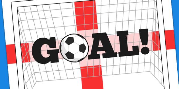 England Goal Display Poster - display, poster, goal, england