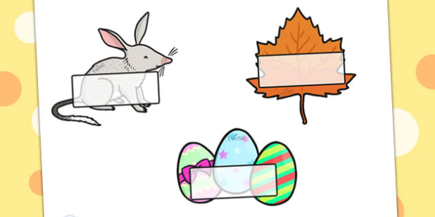 Easter Self Registration - easter, self reg, signs, labels, tags