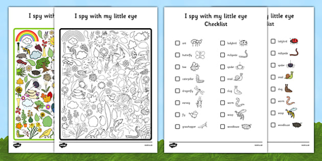 Minibeast Themed I Spy With My Little Eye Activity - EYFS, KS1, Early Years, Key Stage 1, phonics