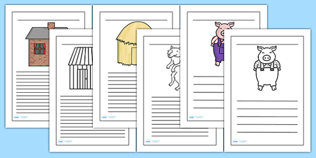 Three Little Pigs Writing Frames - Three Little Pigs, Little Pigs, Three Pigs, Three Little Pigs Writing Frames, Writing Frames, Writing Template