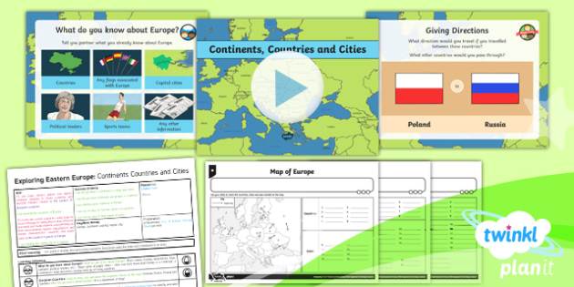 Geography: Exploring Eastern Europe: Continents, Countries and Cities Year 5 Lesson Pack 1