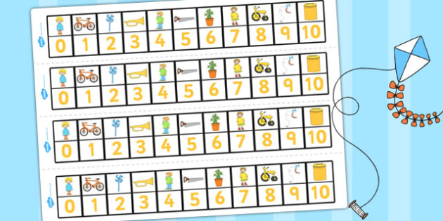 Number Track 0-10 to Support Teaching on Titch - count, counting, counting aid, numeracy