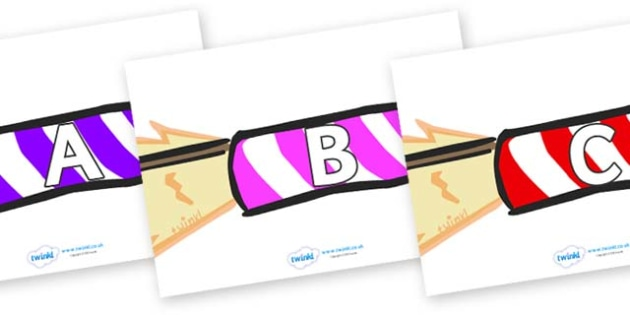 A-Z Alphabet on Firework Rockets - A-Z, A4, display, Alphabet frieze, Display letters, Letter posters, A-Z letters, Alphabet flashcards