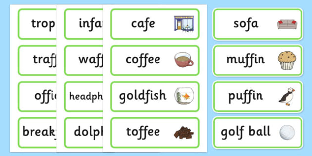 Medial f Word Cards - speech sounds, phonology, articulation, speech therapy, dyspraxia