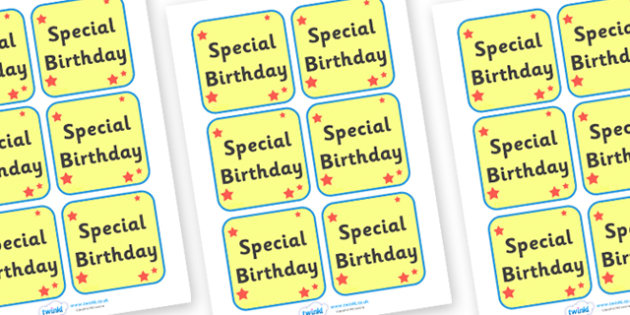 Special Birthday Badge - badge, sign, birthday, special
