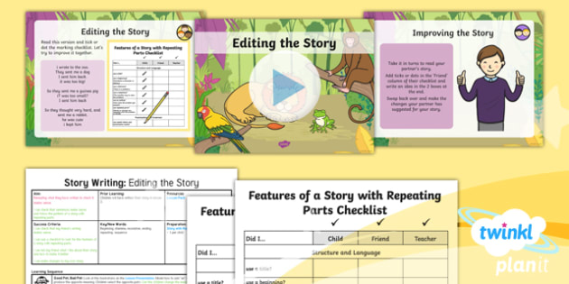 Animals: Dear Zoo: Story Writing 3 Y1 Lesson Pack To Support Teaching on 'Dear Zoo' - Dear Zoo, animals, stories, repeating parts, plan, write, edit