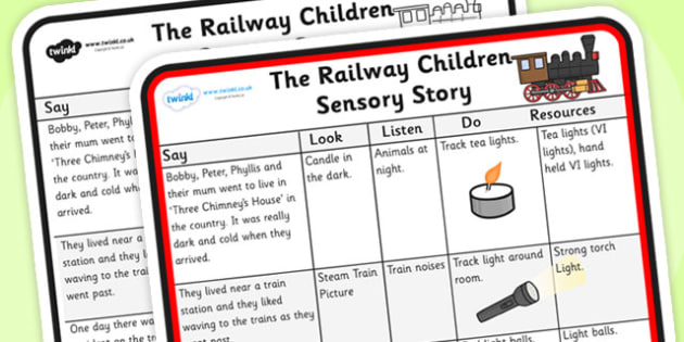The Railway Children Sensory Story-the railway children, sensory, sensory story, sensory worksheet, story worksheet, stories, senses