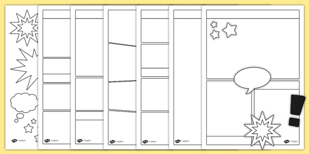 Blank Comic Book Templates - Comic, Comic Books, Writing