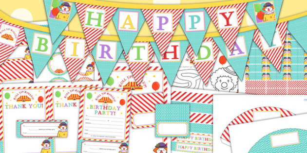 Circus Themed Birthday Party Pack - birthdays, parties, roleplay