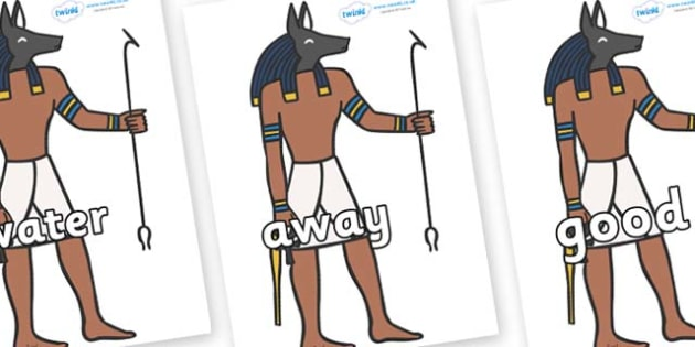 Next 200 Common Words on Egyptian God - Next 200 Common Words on  - DfES Letters and Sounds, Letters and Sounds, Letters and sounds words, Common words, 200 common words