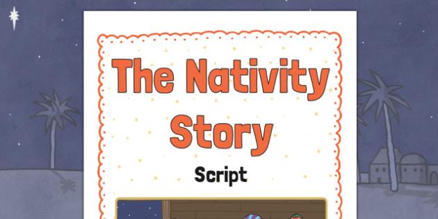 The Nativity Story Script Cover - the nativity story, nativity, the nativity, script cover, script cover for the nativity story, book cover, story cover, nativity cover, front page image, the nativity image
