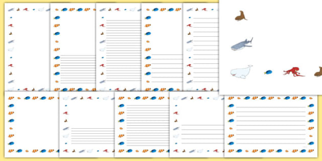 Under the Sea Adventure Page Borders - finding nemo, finding dory, under the sea adventure, page borders