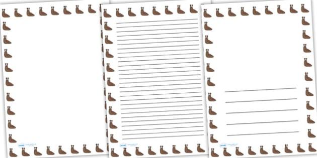 Slug Full Page Borders - page borders, slug page borders, slug borders for page, minibeast page borders, slug, A4, border for page, lined pages